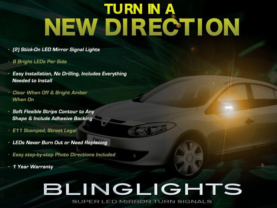 Dacia Logan LED Mirror Turn Signal Set Side Blinker Lamp Kit
