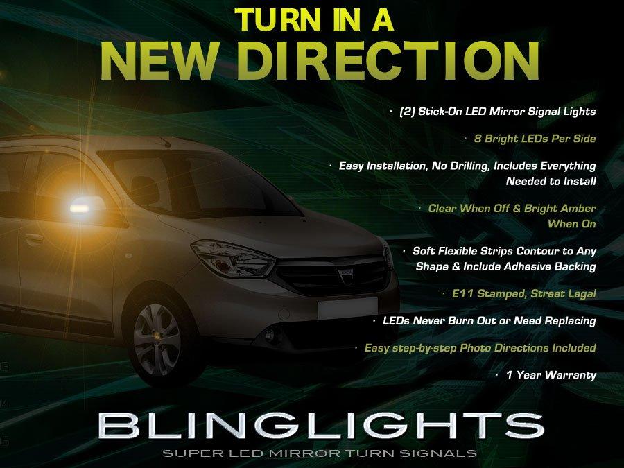 Dacia Lodgy LED Mirror Turn Signal Light Set Side Blinker Lamp Kit
