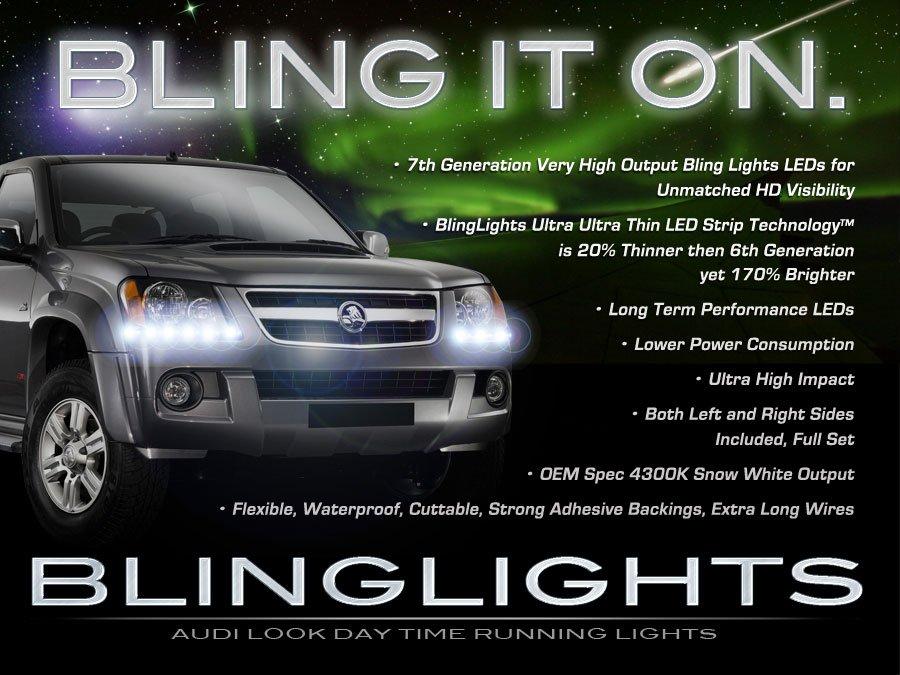 Holden Colorado LED DRL Head Lamp Light Strips Day Time Running Kit