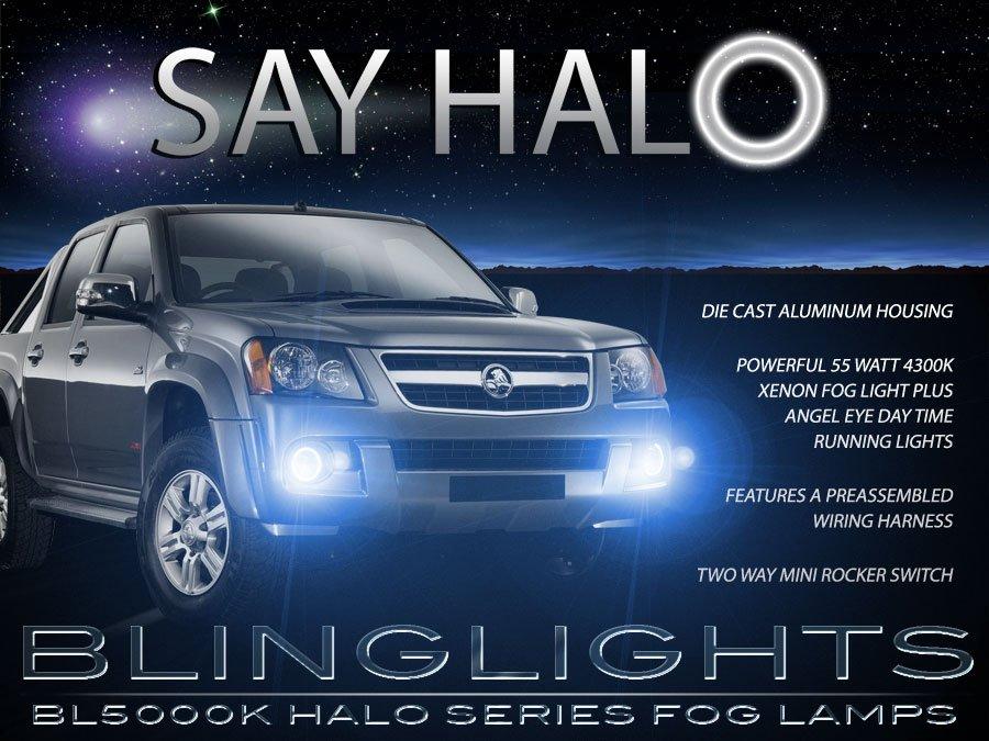 Holden Colorado Angel Eye Fog Lamps Driving Lights Kit