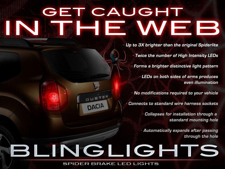 Dacia Duster 3D Custom LED Tail Lamp Light Bulbs Set Pair
