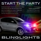 Fiat Palio Head & Tail Lamps Strobe Light Kit White Red Blue Green Violet