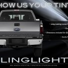 Ford F550 Super Duty Tinted Tail Lamp Light Overlay Kit F-550 Smoked Film Protection