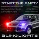 Ford Escape Police Head Lamp Strobe Light Kit Red Blue White Green Purple