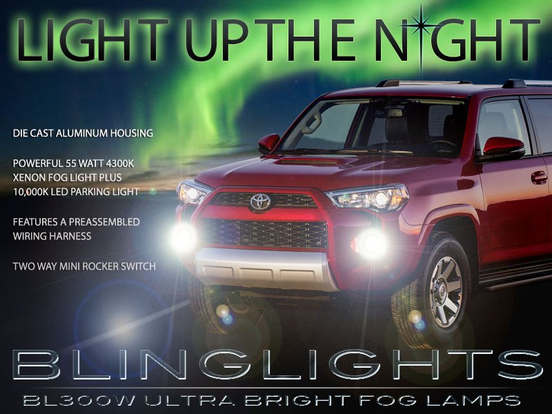 2014-2017 Xenon Toyota 4Runner Fog Lamp Driving Light Kit