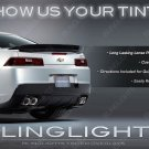 2010+ Chevy Camaro Tinted Tail Light Lamp Overlay Kit Smoked Film Protection