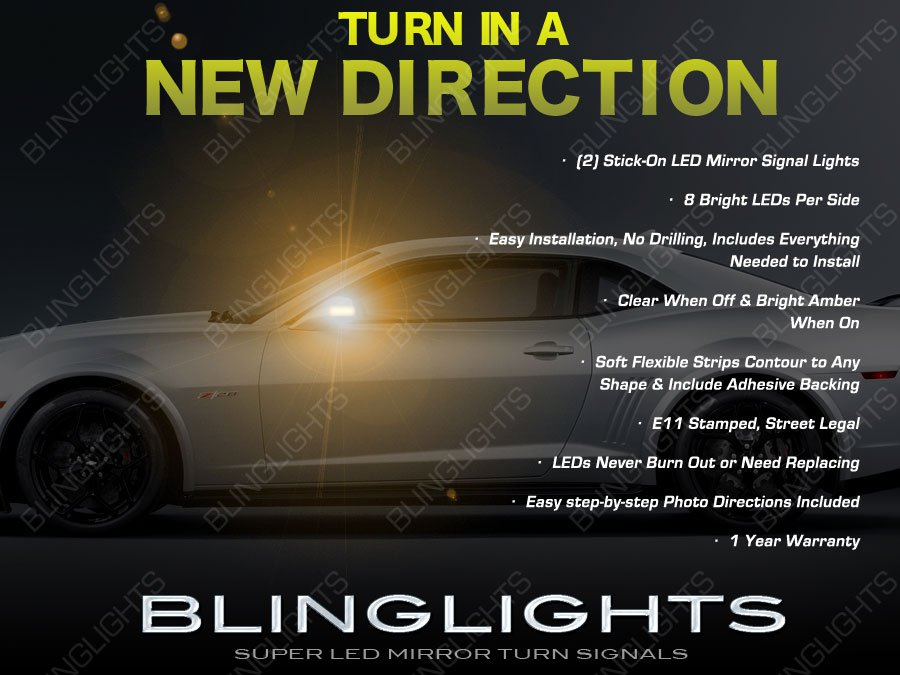 Chevy Camaro LED Mirror Turn Signal Light Indicator Set Lamp Signaler Pair