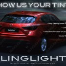 Mazda3 Tinted Tail Lamp Light Overlays sedan hatchback Smoked Film Protection Kit