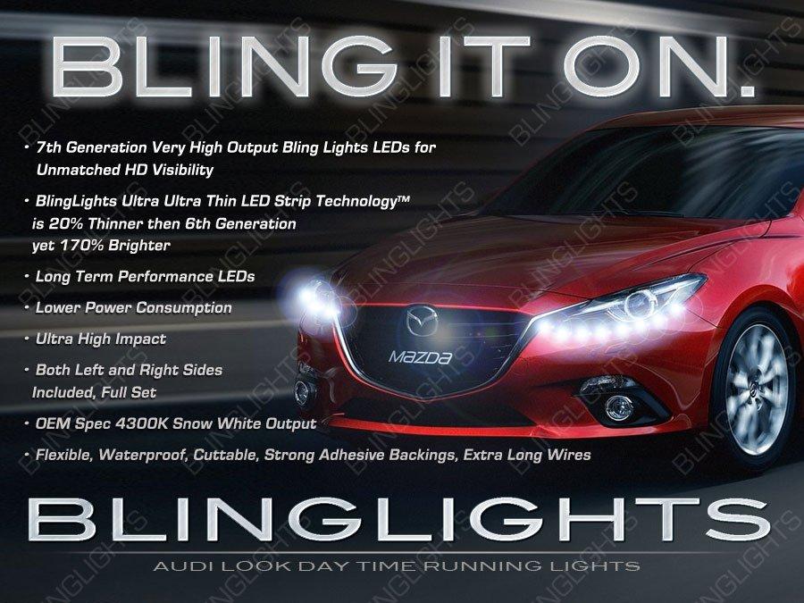 Mazda3 LED DRL Day Time Running Lamp Head Lights Strips Kit