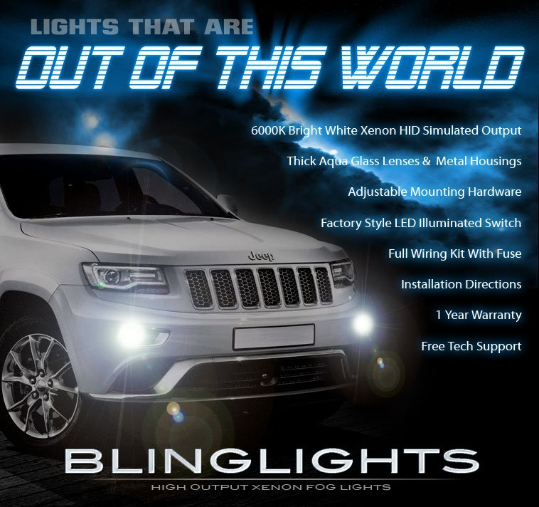 2014 2015 2016 Jeep Grand Cherokee Fog Lamp Driving Light Kit