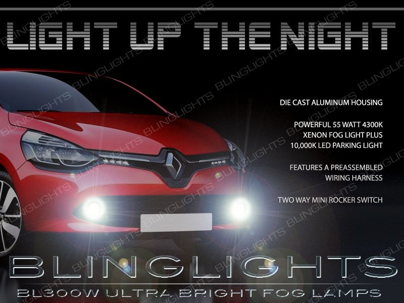 2013 2014 2015 Renault Clio IV Xenon Fog Lamp Light Kit Angel Eye Drivinglights