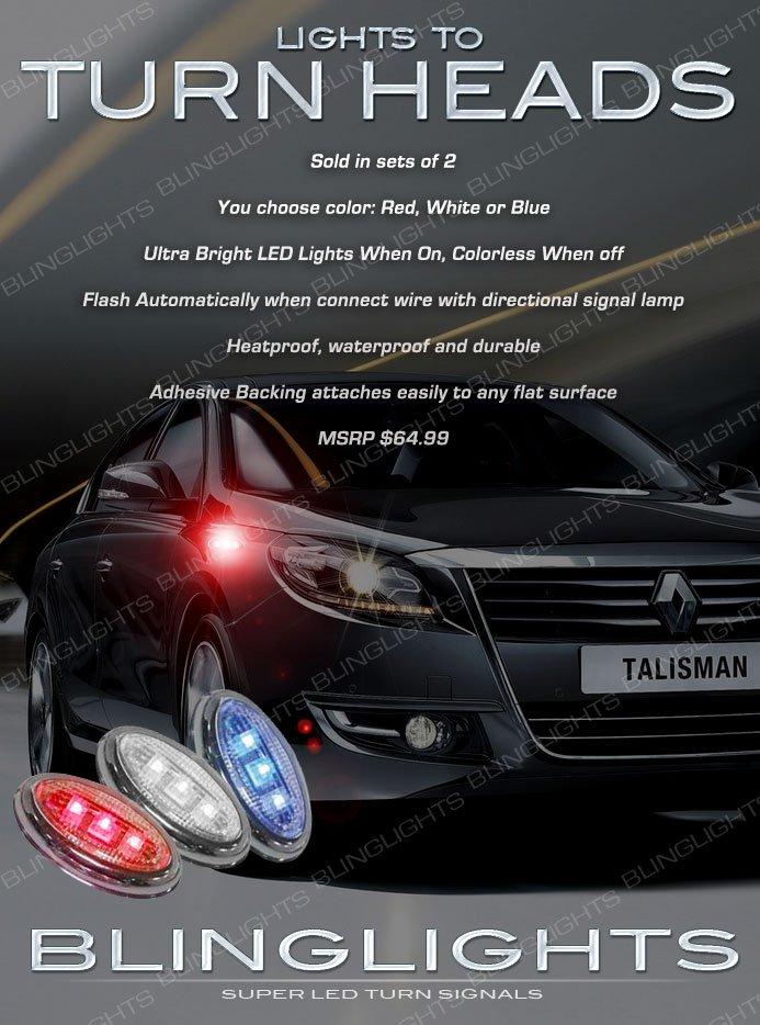 Renault Samsung SM7 LED Flush Mount Turn Signal Lights Marker Accent Lamps Set Blinker Pair