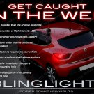 Renault Clio Custom 3D LED Tail Lamp Light Bulbs Pair Replacement Upgrade Set