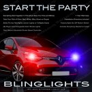 Renault Clio Head Lamps Strobe Light Kit red white blue green and purple