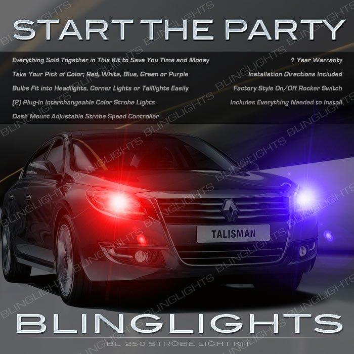 Renault Samsung SM7 Head Lamps Strobe Light Kit Talisman Police Strobes