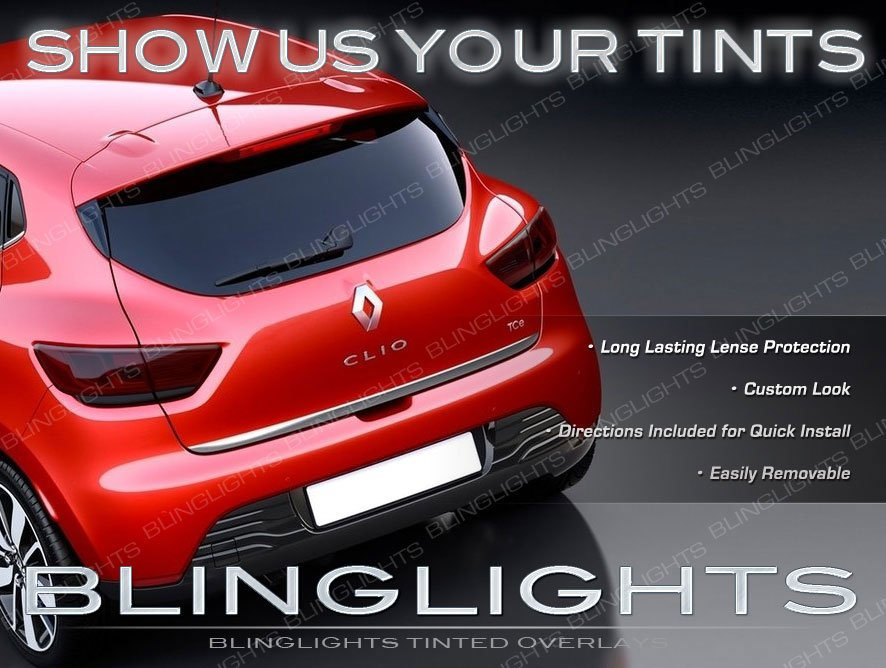 Renault Clio Tinted Smoked Tail Lamp Light Overlays Kit Protection Film