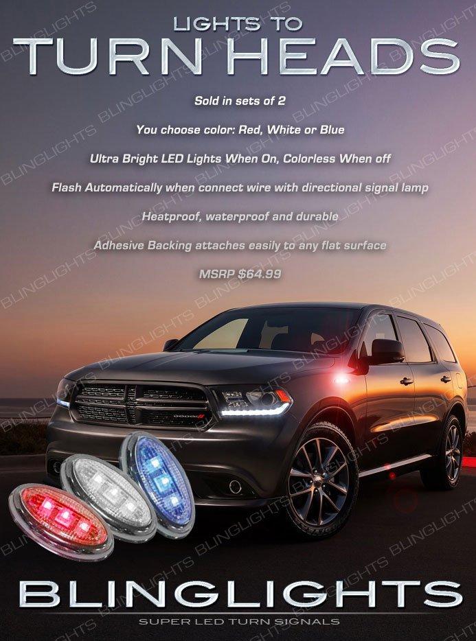 Dodge Durango LED Flushmount Turn Signal Lights Marker Lamp Set