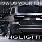 Dodge Durango Tinted Tail Lamp Light Smoked Overlay Kit Protection Film