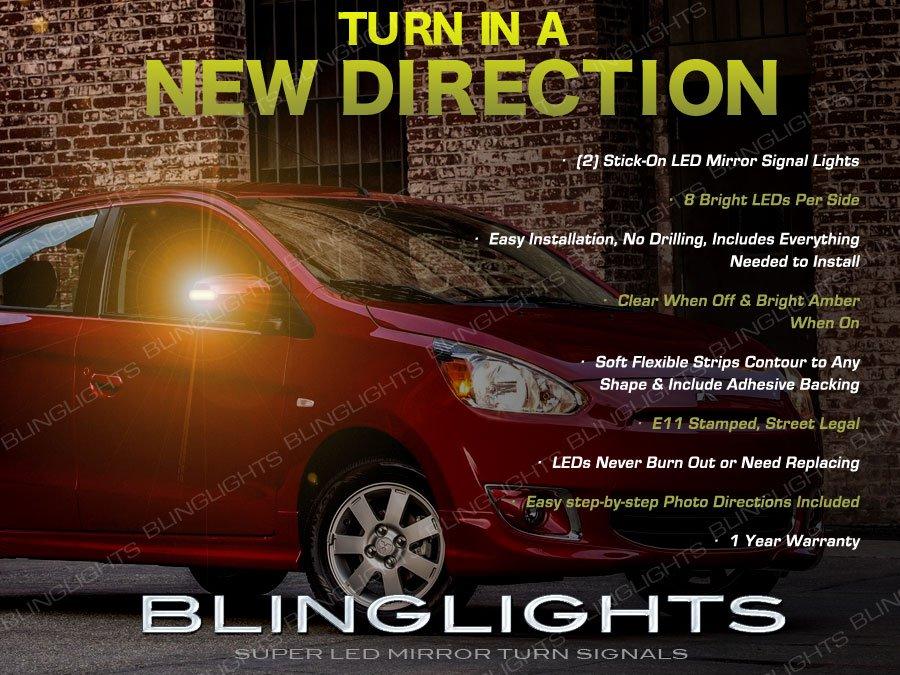 Mitsubishi Mirage LED Mirrors Turnsignal Lights Kit Side Turn Signal Lamps