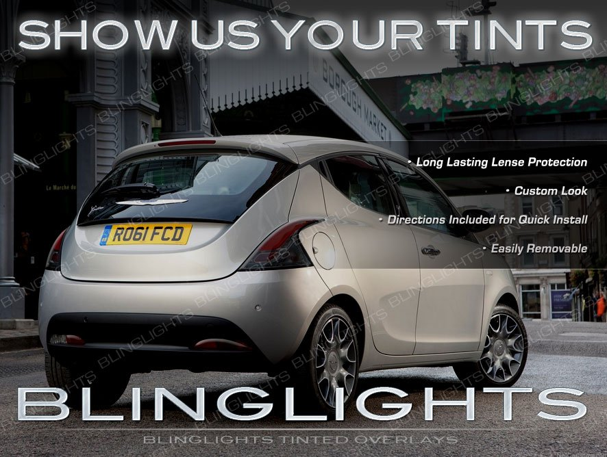 Chrysler Lancia Ypsilon Tinted Tail Lamp Light Overlays Kit Smoked Film Protection