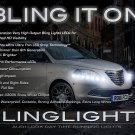 Chrysler Lancia Ypsilon LED DRL Head Lamp Light Strips Day Time Running Kit