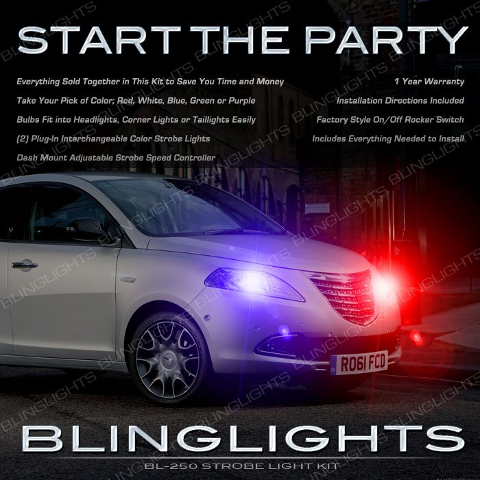 Chrysler Lancia Ypsilon Head Lamps Strobe Light Kit Multi Color