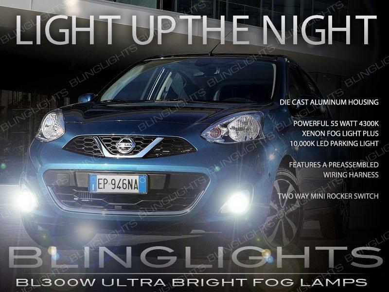 2014 2015 2016 Nissan Micra Fog Lamp Driving Light Kit K13c