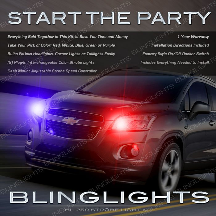 Chevrolet Trax Head and Tail Lamps Strobe Light Kit Chevy