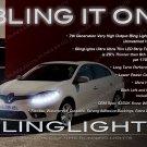 Renault Fluence LED DRL Head Light Strips Kit Day Time Running Lamp Set Pair