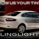 Renault Fluence Tinted Tail Lamp Light Smoked Overlays Kit Vinyl Film Protection