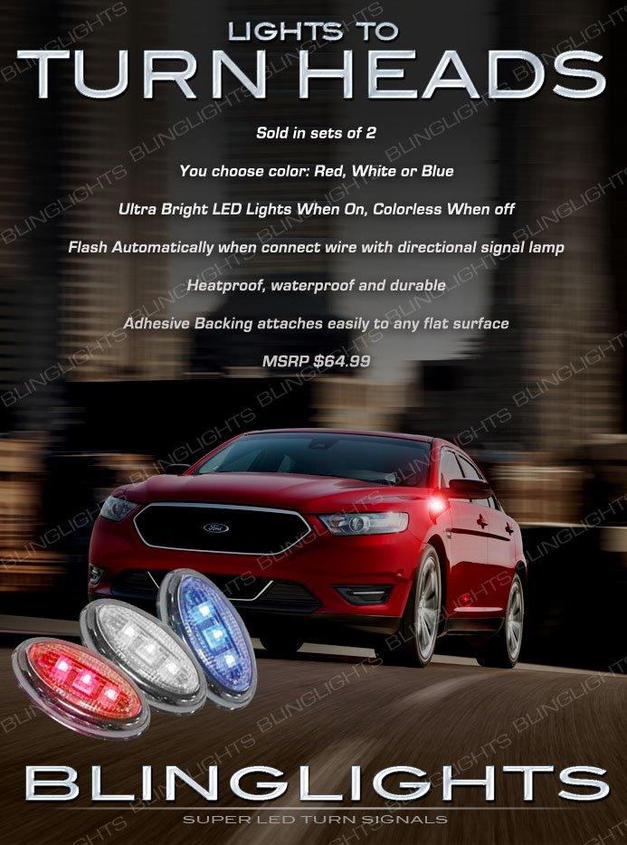 Ford Taurus LED Flushmount Side Turn Signal Light Lamps Marker Pair Set Kit