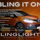 Renault Captur LED DRL Head Lamp Light Strips Day Time Running Kit Pair