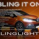 Renault Samsung QM3 LED DRL Head Lamp Light Strips Day Time Running Kit Pair