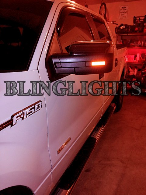 Ford F-150 LED Side Mirror Turn Signal Lights Power Signaler Lamps xl stx F150