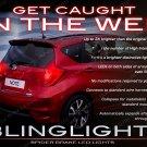 Nissan Versa Note Custom LED Tail Lamp Light Bulbs Pair Set 3D