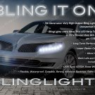Lincoln MKS LED DRL Head Lamp Light Strips Day Time Running Kit