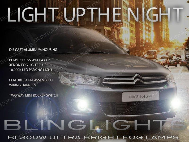 2013 2014 2015 Citroën C-Elysée Xenon Fog Lamp Driving Light Kit