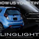 Chevrolet Matiz Tinted Tail Lamp Light Overlay Kit Smoked Film Protection M100 M150 M200 M250