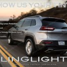 Jeep Cherokee Tinted Tail Lamp Light Overlays Kit Smoked Film Protection