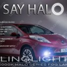 2014 2015 2016 Nissan Leaf Halo Fog Lamp Driving Light Kit angel eye drivinglights set