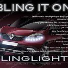 Renault Scénic LED DRL Head Light Strips Day Time Running Lamp Kit Scenic