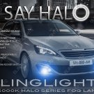 Peugeot 308 Halo Fog Lamps Driving Lights Kit Angel Eye