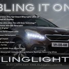 Peugeot 2008 LED DRL Head Light Strips Day Time Running Lamp Kit