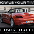 BMW Z3 E36 E37 E38 Tinted Tail Lamp Light Overlay Kit Smoked Film Protection