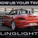 BMW Z3 E36 E37 E38 Tinted Tail Lamp Light Overlay Kit Smoked Film Protection