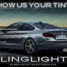 BMW 4-series F32 F33 F36 Tinted Tail Lamp Light Overlay Kit Smoked Film Protection