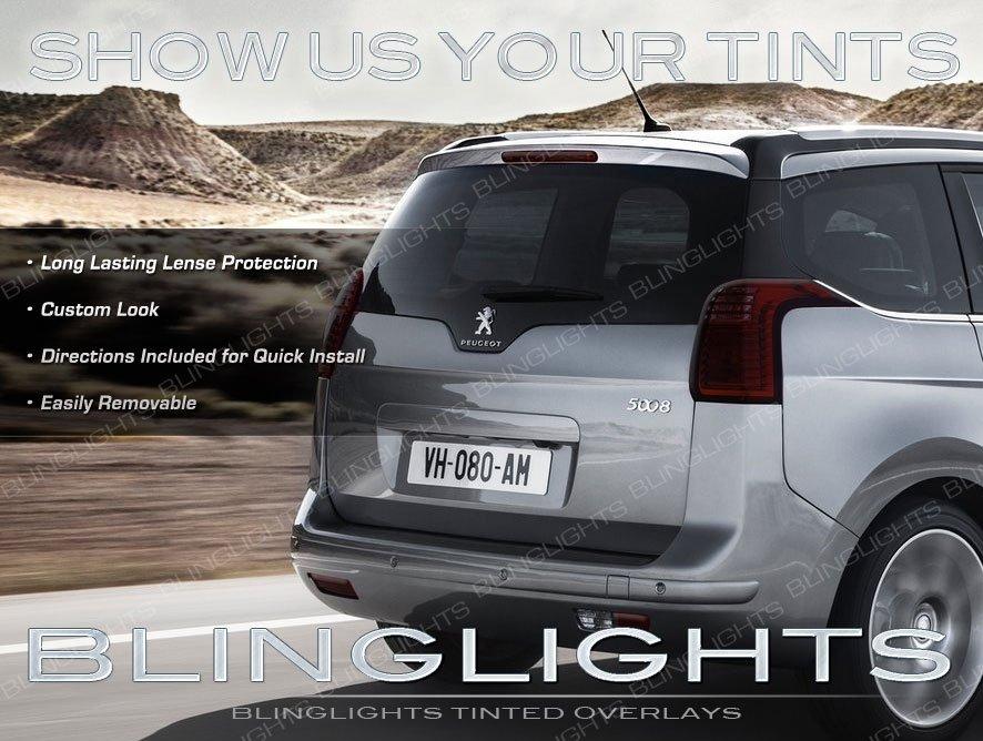 Peugeot 5008 Smoked Taillamp Taillight Tint Overlays Kit Protection Film