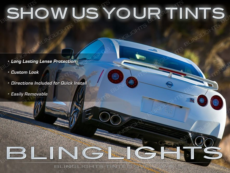 Nissan GT-R Tinted Taillamps Taillights Smoked Overlays Kit Film Protection GTR
