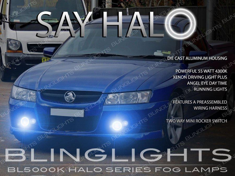 2004 2005 2006 2007 Holden VZ Commodore Halo Fog Lamp Driving Light Kit sedan ute wagon