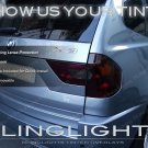 BMW X3 e83 f25 Tinted Tail Light Smoked Lamp Overlays Kit Protection Film